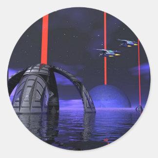 Laser Stars2 Classic Round Sticker