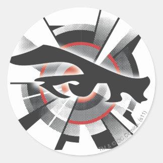 Laser Vision Round Sticker