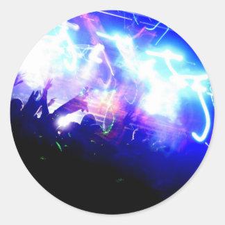 Lasers & Crowd Round Sticker