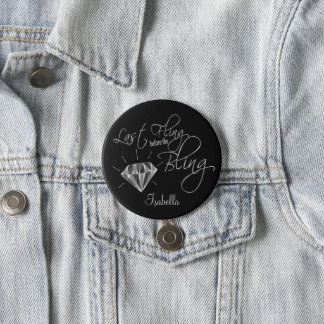 Last Fling Before the Bling - Silver 7.5 Cm Round Badge