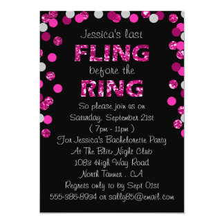 Last Fling Before The Ring Bachelorette Party Card