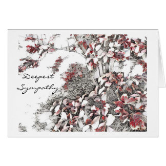 Last Leaves of Autumn Sympathy Card