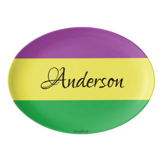 Last Name Custom Personalised Mardi Gras Platter