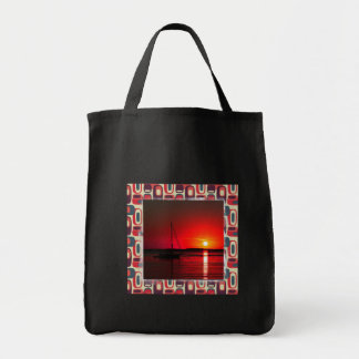 Last Summer Evening 02 Grocery Tote Bag