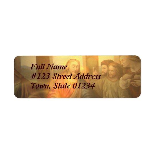 Last Supper Mailing Label