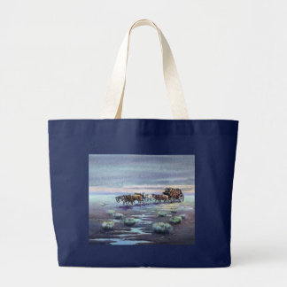 LATE AFTERNOON STAGECOACH by SHARON SHARPE Large Tote Bag