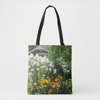 Late August Cottage Garden, Geometric side 2 Tote Bag