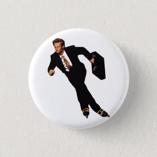 Late For Business Rollerblade Skater Meme 3 Cm Round Badge
