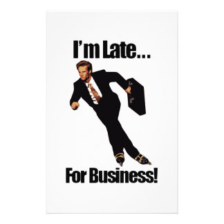 Late For Business Rollerblade Skater Meme Stationery Design
