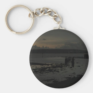Late winters afternoon from Pennington Marshes Key Ring