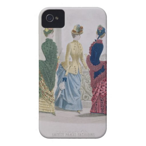 Latest Paris Fashions, three day dresses in a fash Case-Mate iPhone 4 Cases