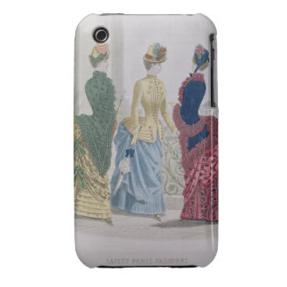 Latest Paris Fashions, three day dresses in a fash iPhone 3 Case-Mate Cases