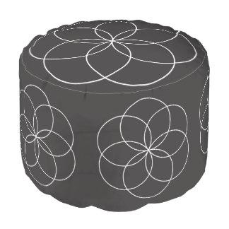 Lathe Flower Pouf