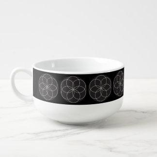 Lathe Flower Soup Mug
