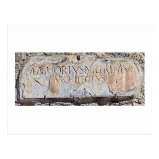 Latin Architect Post Card