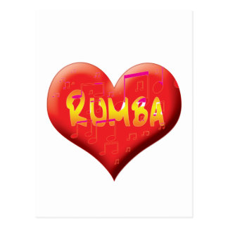 Latin Dance Stationary Postcard