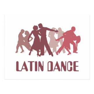 Latin Dancers Illustration Postcard