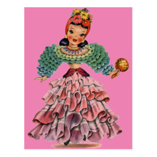 Latin Doll Postcard