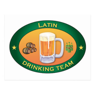 Latin Drinking Team Postcard