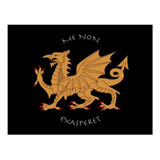 Latin mottos and heraldry postcards
