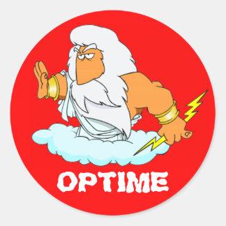 Latin Optime Round Stickers