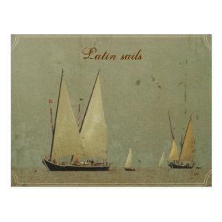 Latin sails postcards