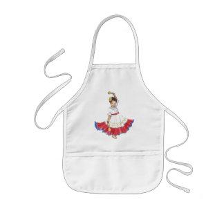 Latina Dancer girl's apron craft smock