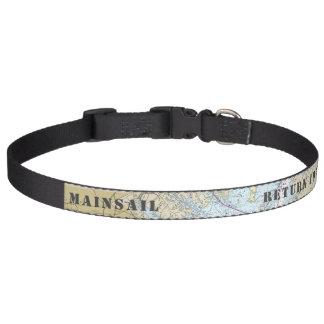 Latitude Longitude Baltimore Nautical Pet Collar