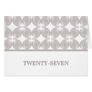 Latte Modern Deco Table Number Card