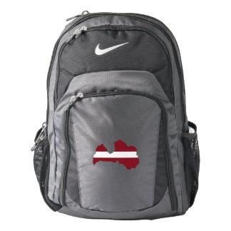 Latvia Flag/Map Backpack