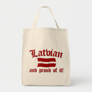 Latvian and Proud of It Grocery Tote Bag