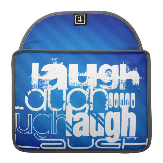 Laugh; Royal Blue Stripes Sleeve For MacBook Pro