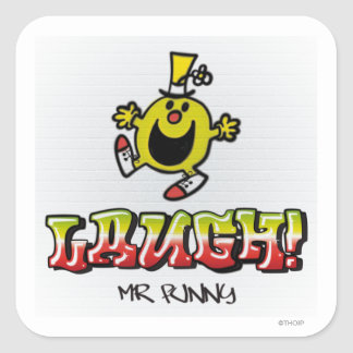 Laugh With Mr. Funny Square Sticker