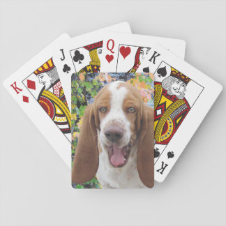 Laughing Basset Hound Playing Cards