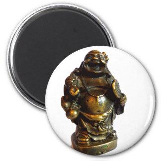 Laughing Buddha 6 Cm Round Magnet