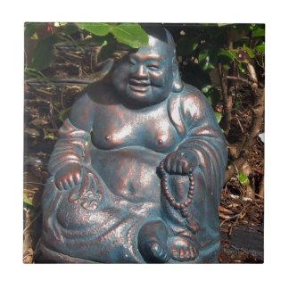 Laughing Buddha enjoying Spring sun Tile