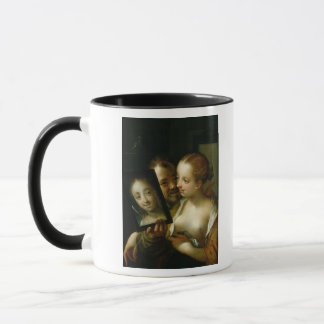 Laughing Couple with a mirror, 1596 Mug