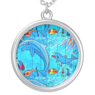 laughing dolphin necklace