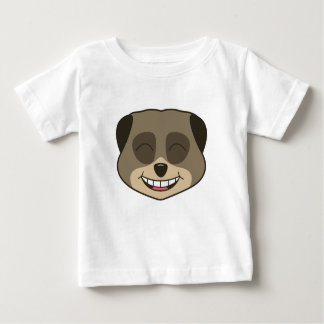 Laughing meerkat expression baby T-Shirt