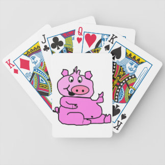 Laughing Pig Playing Cards