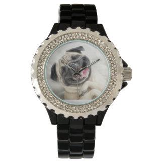 Laughing Pug Watch