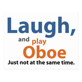 Laugn and Play Oboe Postcard