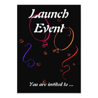Launch event party 11 cm x 16 cm invitation card