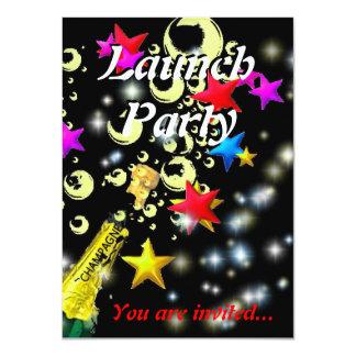 Launch party champagne celebration 11 cm x 16 cm invitation card