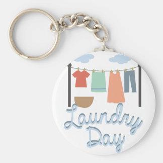 Laundry Day Basic Round Button Key Ring