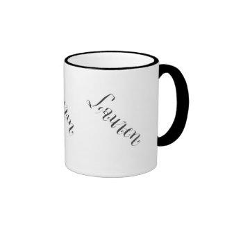 Lauren name mug in black and white
