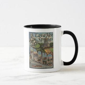 Lava Hot Springs, Idaho - Large Letter Scenes Mug