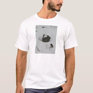 Lava rock in snow T-Shirt