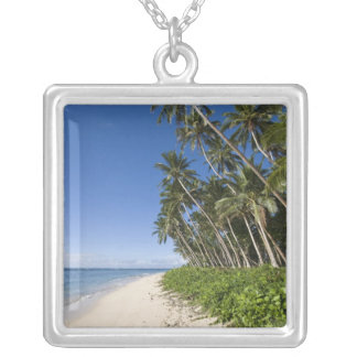 Lavena Beach, Taveuni, Fiji Silver Plated Necklace