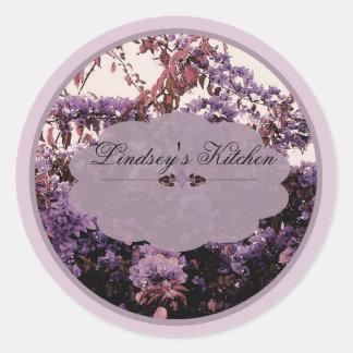 lavendar azaleas labels round sticker